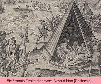 Drake claims New Albion (California) for England