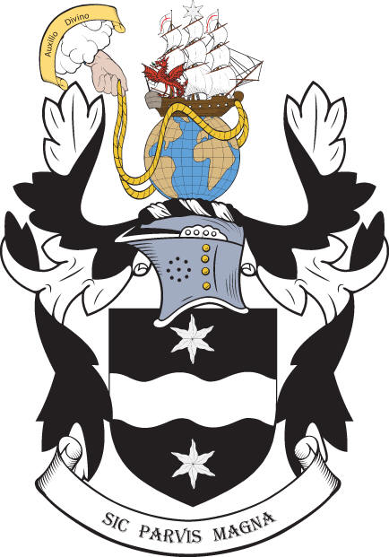 Coat of arms granted to Sir Francis Drake by Queen Elizabeth I.