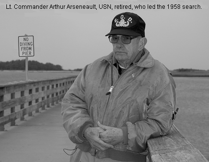 Lieutentant Commander Arthur Arseneault, U.S. Navy, the man who led the original 1958 search for the lost Savannah hydrogen bomb