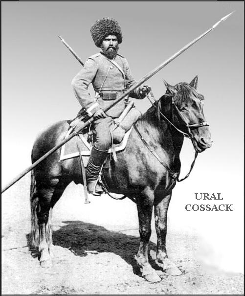 A Ural Mountains Cossack serving in the Imperial Guard