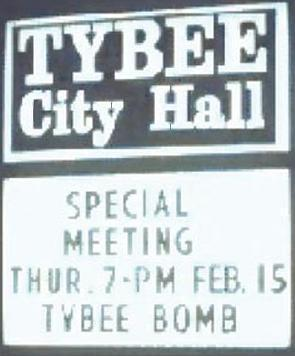 sign outside Tybee City Hall